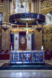 Altare in Santa Maria de Montserrat Abbey Immagine Stock