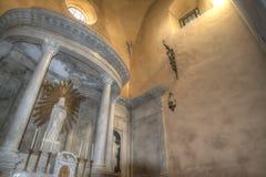 Altare santo di Maria nella cattedrale di Santa Maria in Alghero Immagini Stock