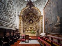 Altare sbalorditivo nella chiesa di San Sebastian Immagine Stock Libera da Diritti