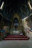 Altare scuro - chiesa abbandonata Fotografie Stock Libere da Diritti