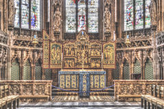 Altare in signora Chapel alla cattedrale HDR di Lichfield Fotografie Stock Libere da Diritti