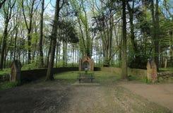 Altare su Waldfriedhof (cimitero della foresta) in Dambeck vicino a Greifswald, Germania Immagini Stock