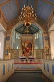 Altare svedese della chiesa Fotografia Stock Libera da Diritti
