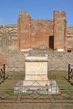 Altare in tempio di Vespasian, Pompei Immagine Stock Libera da Diritti