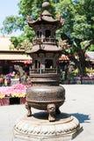 Altare in tribunale del tempio di Guangxiao in Canton Fotografia Stock Libera da Diritti