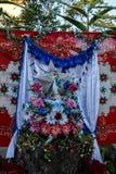 Altare tropicale rustico al vergine Immagini Stock Libere da Diritti