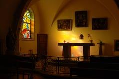Altare in una chiesa Fotografia Stock Libera da Diritti