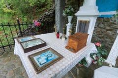 Altare vicino alla molla curativa di Tustan Fotografia Stock Libera da Diritti