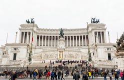 altaredellapatria rome Arkivfoton