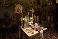 Altaret av den ortodoxa kyrkan Arkivbilder