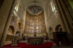 Altarpiece в старом соборе Саламанки, Испании стоковая фотография rf