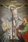 Altarpiece в церков Jorlunde от 1613 неизвестным художником стоковое изображение