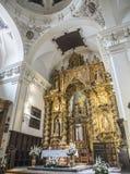 Altarpiece и купол на главной часовне церков нашей дамы Грейса, Альмерии, Андалусии, Испании стоковая фотография rf