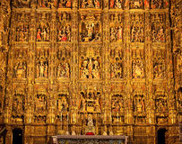 Altarpiece. In the Cathedral of Seville (Pierre Dancart's masterpiece), Spain Stock Images