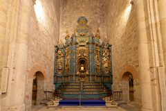 Altarpiece at the cathedral in Plasencia, Caceres Royalty Free Stock Photo