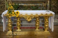 Altarpiece della cattedrale Fotografia Stock Libera da Diritti