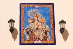 Altarpiece della ceramica Fotografie Stock Libere da Diritti