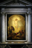 Resurrection of Christ. Altarpiece depicting Resurrection of Christ, work by Michele Ridolfi in Cathedral of St.Martin in Lucca, Italy Royalty Free Stock Photography