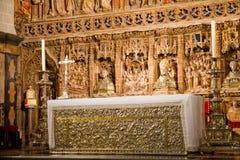 Altarpiece di San Salvador de la seo Cathedral Fotografia Stock