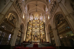 Altarpiece in the main chapel of Burgos Cathedral Stock Photo