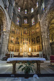 Altarpiece of Santa Catalina, Inside view of the Cathedral in Av Royalty Free Stock Images