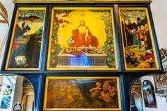 Altarpiece St Mary & x27 Христоса; церковь Stadtkirche Luthersta города s стоковое изображение