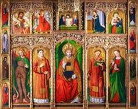 Altarpiece St Nicolas в Монако стоковые изображения