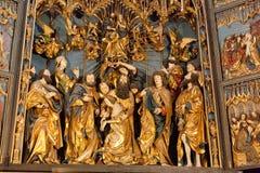 Altarpiece of Veit Stoss Stock Photo