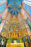 Altarpiece Veit Stoss St Maryjna bazylika w Krakow, Pole zdjęcie royalty free