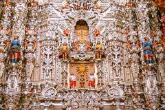 Altarpiece at virgen del carmen church I Stock Image