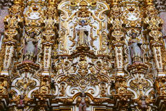 Altarpiece at virgen del carmen church IV Stock Images
