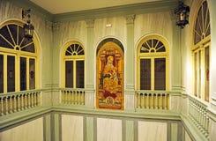 Altarpiece w Biskupim pałac w Ciudad Real, Castilla los angeles Mancha, Hiszpania Fotografia Stock