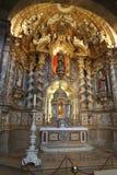 Altartavla av basilikan av Loiola i Azpeitia (Spanien) royaltyfri foto