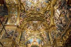 Altartavla av den jungfruliga Collsen San Lorenzo de Morunys Arkivfoto