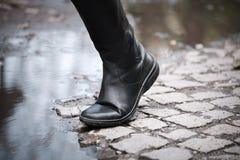 Altas botas de cuero Fotografía de archivo libre de regalías