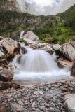 Altas cascadas en el shangria Imagen de archivo