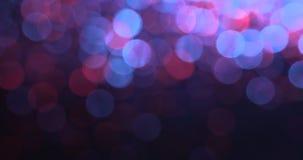 Altas fondos abstractos borrosos del bokeh de la definición luces metrajes