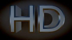 Altas letras del metal de la definición HD 3D Imágenes de archivo libres de regalías