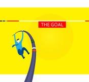 Altas metas de los desafíos Imagen de archivo libre de regalías