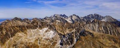 Altas montañas de Tatra Fotos de archivo