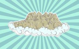Altas montañas en nubes Imágenes de archivo libres de regalías