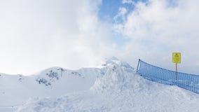 Altas montañas nevosas de Sochi Imagen de archivo