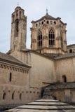 Altas paredes del monasterio de Poblet Fotografía de archivo libre de regalías