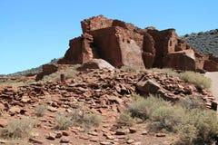 Altas ruinas del pueblo de Wupatki Foto de archivo libre de regalías