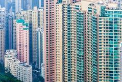 Altas subidas de Hong-Kong Imágenes de archivo libres de regalías