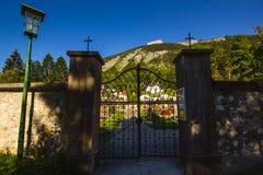 Altaussee,奥地利Cementery  库存图片