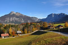 Altaussee and Loser in Austria stock photo