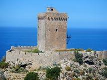Altavilla Milicia - detalj av Torre Normanna Arkivbild