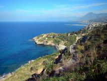 Altavilla Milicia - panorama av kusten Arkivfoton