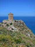 Altavilla Milicia - skymt av Torre Normanna Royaltyfria Bilder
